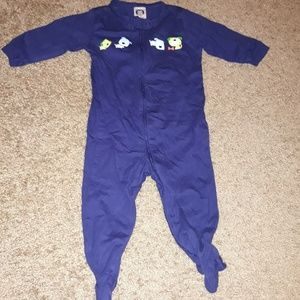 🔴 3/$10 3-6 Months Navy One Piece With Dogs